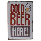 Cold Beer Here Sign Wall Decor Metal Vintage Decorative Painting
