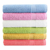 80x50cm Soft Cotton Bath Beach Towel Super Absorbent Loose Terry Face Towel