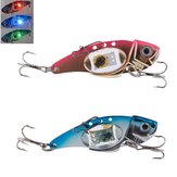 ZANLURE VIB 80mm 32g Flash LED Isca Light Fishing Lure Light Lâmpada de pesca eletrônica
