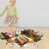 Miico 3D Creative PVC Wall Stickers Home Decor Mural Art Removable House Wall Decals