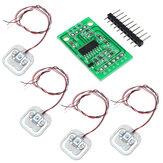 4個DIY 50KGボディロードセル重量歪みセンサ抵抗HX711 ADモジュール