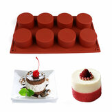 8 Holes Round Shape Silicone Cake Mold 3D Chocolate Candy Pudding Ice Mold Fondant Pastry Mould