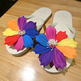 Flower Peep Toe Casual Beach Flip Flops