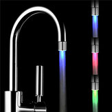 Temperature Sensor Control RGB Changing LED Water Faucet Tap Light for Kitchen Bathroom