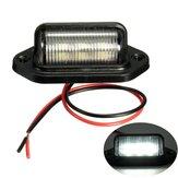 12v 6 LED номерной знак лицензии легкий грузовой автомобиль с прицепом грузовой автомобиль белый материал