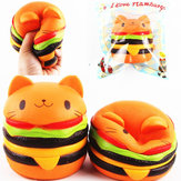 Sanqi Elan Squishy Cat Burger 11 * 10CM Slow Rising Soft Animal Collection Gift Decor Toy Originele verpakking