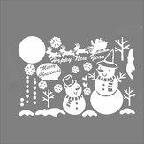 NoelKardanAdamKarTanesiCam Çıkarılabilir Pencere Duvar Sticker Parti Dekorasyon Festivali Çıkartmaları Sevimli beyaz Kar Tanesi Merry Christmas Kardan Adam Vinil Çıkartmaları Pencere Kapalı çocuk Odası Süslemeler