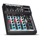 Consola de mezcla portátil de estudio en vivo de 4 canales USB Bluetooth mezclador de audio
