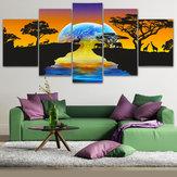 5pcsensembleétoilespeinturesurtoile moderne peintures murales sans cadre Art Pictures Home Decor