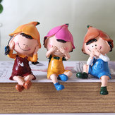 3pcs/set Hot Sale Not Say Not Listen Not Look Three No Cute Resin Doll Home Pastoral Model Decorations Do Not Look Listen Say Three No Resin Crafts