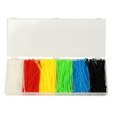 Suleve™ ZT01 900pcs 100x2mm Self Locking Nylon Cable Wire Zip Ties 6 Colors