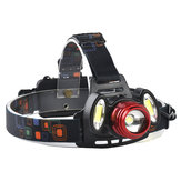 XANES 2305 1200 Lumens T6+2xCOB  Bicycle Headlamp Mechanical Zoom Adjustable Head Light