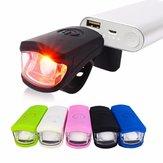 250LM 3W LED USB aufladbare Head Light Flash Fahrrad Fahrrad Stop Rückseiten Endstück Lampen