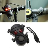 XANES WB01 Bicycle Electric Horn High Decibel 120dB Bell with Warning Light AAA Battery Multi-tone Waterproof