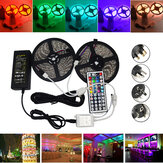 10M SMD 5050 Impermeabile RGB 600 LED Strip Light + IR Controller + Cavo Connettore + Adattatore DC12V