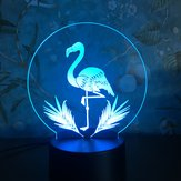 3D Night Light Touch Couleurful Flamingo LED Lampe de table cadeau d'anniversaire
