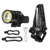 50000LM T6 COB LED Rechargeable Headlamp Zoomable Bike Bicycle Head Light Lamp