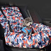CarAssentoCopilotoCamuflagemCagePet Mat Bolsa Assento de Viagem Cachorro Protetor Carrier Almofada Pad