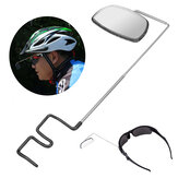 BIKIGHTligadealumíniodepouco peso espelhos de opinião traseira da montagem do capacete de uma bicicleta de 360 graus ajustáveis