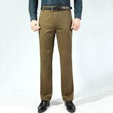 Men'sBuinessCasualLooseThickCotton Suit Calças