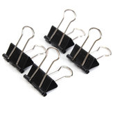12PCS 19mm Metal Black Binder Spring Clips Paper Filing Grip Clamps