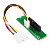 PCI-E 1X/4X Card to NGFF M.2 M Male Adapter Key PCIE Slot Board With Converter