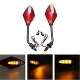 8mm 10mm Par Motorcycle Retroviseurs Side Wind 12V LED Indicator Light Turn Signal