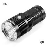 BLF Q8 4x XP-L 5000LM Torcia Elettrica Professional Funzionamento Multiplo Procedura Super Luminosa LED