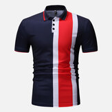 Muscle Fit Color Block Short Sleeve Regular Golf Shirt
