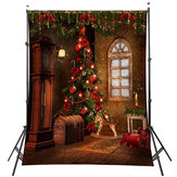 5x7FT 3x5FT Christmas Tree Gift Wall Vinyl Photography Backdrop Photo Background