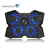 CoolCold Ice Magia 2 Notebook Cooler 4 Fan 2 USB LED Supporto per computer Cooler Pad Cooler Laptop Cooler