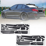 Koolstofvezel patroon auto-interieur Dashboard Sticker Wrap decoratie voor BMW 5-serie F10 F18 2011-17