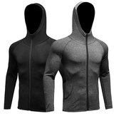 Heren Fitness Running Training Sportjas Lange mouwen Zipper Casual Hoodie Sneldrogende jas