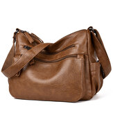 Donna Soft Solido Hobos Crossbody in similpelle Borsa