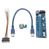 0,3m DC a DC USB 3.0 PCI Express 1x A 16x Scheda adattatore di riserzione del cavo di estensione del cavo