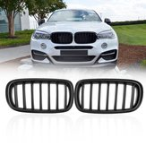 Pair Matte Black ABS Car Front Kidney Grille for BMW F15 F16 X5 X6 2013-2017