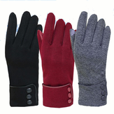 Mulheres Unisex Warm Touch Screen Fleece Luvas No-Slip Cycling Outdoor Windproof Ski Gloves