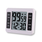 Loskii KC-12 Electric Digital Kitchen Timer Multifuntional Cooking Tool Magnetic Backing Stand with Large LCD Display Clock