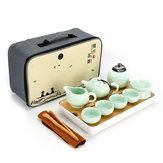 ポータブル旅行カンフーティーセット手作りの中国磁器茶カップ