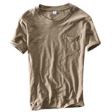 T-shirt con scollo t-shirt tinta unita uomo estate