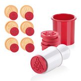 6 Stücke Weihnachten Cookie Stempel Keks Form Cookie Plunger Cutter DIY Backform