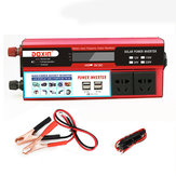 6000W Peak DC 12V / 24V a AC 110V Power Inverter Socket Wave digitale modificato a 4 prese USB 2 prese