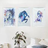 AquarelleFéeChevalPhotoToilePeintures Sans Cadre Abstrait Mur Art Décor