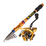 LEO GT4000 1.8-3.6M Carbon Telescopische Hengel Reel Combo Travel Spinning Fishing Pole Sets