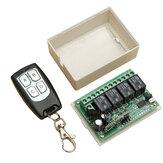 Geekcreit®12V 4CHチャンネル433Mhzワイヤレスリモートコントロールスイッチトランシーバレシーバモジュール