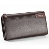 Business Casual Zipper Clutch Bag with 4 Cash Pockets