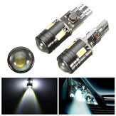 Pair Error Free Canbus Xenon White T10 5730 W5W Lamp LED Bulbs Car Eyelid Lights
