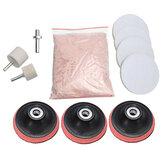 11Pcs 3inch Pad 230g Cerium Oxide Windscreen Scratch Remover Kit de polimento de vidro