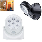 Batería Alimentado IR Motion Sensor LED Night Light 360 Degree Auto Pared de encendido / apagado Lámpara para Hallway Yard