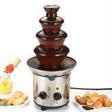 4 Tiers Mini Stainless Steel Chocolate Fondue Machine Waterfall Chocolate Melting Fountain Machine